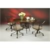 Pastel Furniture Metropolitan Caster Chair, Topanga Brown