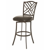 Pastel Furniture Milazzo Swivel Barstool, Melvin Chocolate