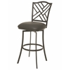 Pastel Furniture Milazzo Swivel Barstool, SF PU Gray