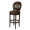 Pastel Furniture Naples Bay Swivel Barstool, Leather Ridge