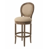 Pastel Furniture Naples Bay Swivel Barstool, Wren Linen