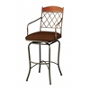 Napa Ridge Swivel Barstool, Brown