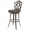 Pastel Furniture Orbit Swivel Barstool, SF PU Gray