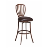 Tropez Swivel Barstool, Brown
