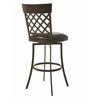 Pastel Furniture Valley Falls Swivel Barstool, Melvin Chocolate