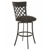 Pastel Furniture Valley Falls Swivel Barstool, SF Gray Linen