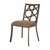 Pastel Furniture Villa Metro Side Chair, Brown Linen