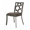 Pastel Furniture Villa Metro Side Chair, SF PU Gray