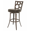 Villa Metro Swivel Barstool, Brown
