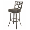 Pastel Furniture Villa Metro Swivel Barstool, SF PU Gray