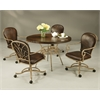 Pastel Furniture Villa Nova Caster Chair, Leather Spice