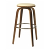 Pastel Furniture Yohkoh Swivel Barstool, PU Ivory