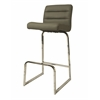 Pastel Furniture Zetta Barstool, PU Gray