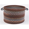 "Rhody Rug Astoria Walnut 18"" x 12"" Basket"