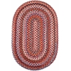 Rhody Rug Astoria Red Velvet 8X11 Oval