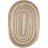 Rhody Rug Country Jewel Champagne 8X11 Oval