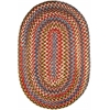 Rhody Rug Country Jewel Tawny Port 5X8 Oval