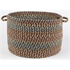 "Cypress Brown Velvet 18"" x 12"" Basket"