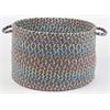 """Rhody Rug Cypress Marina Blue 18"""" x 12"""" Basket"""