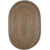 Rhody Rug Cypress Brown Velvet 4X6 Oval