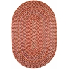 Rhody Rug Cypress Brilliant Red 5X8 Oval