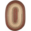 Rhody Rug Easy Living Spanish Red 4X6 Oval