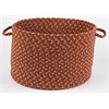 "Easy Living Warm Earth 18"" x 12"" Basket"