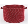 "Rhody Rug Manhattan Red Brick 18"" x 12"" Basket"