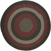 Rhody Rug Manhattan Black Satin 4' Round