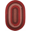 Rhody Rug Manhattan Red Brick 3X5 Oval