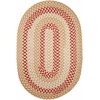 Rhody Rug Manhattan Natural 4X6 Oval