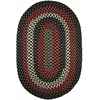 Rhody Rug Manhattan Black Satin 7X9 Oval