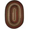 Rhody Rug Mayflower Brown Fudge 10X13 Oval