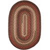 Rhody Rug Mayflower Sangria 8X11 Oval
