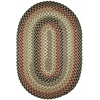 Rhody Rug Mayflower Forest Green 4X6 Oval