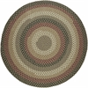 Rhody Rug Mayflower Forest Green 4' Round