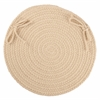 "Rhody Rug WearEver Cream Poly 15"" Chair Pad"