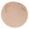 "Rhody Rug WearEver Beige Poly 15"" Chair Pad"