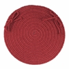 """Rhody Rug WearEver Colonial Red Poly 15"""" Chair Pad"""