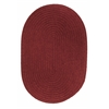 Rhody Rug WearEver Colonial Red Poly 4X6 Oval
