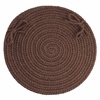 "Rhody Rug WearEver Brown Poly 15"" Chair Pad"