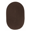 WearEver Brown Poly 7X9 Oval