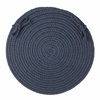 "Rhody Rug WearEver Navy Poly 15"" Chair Pad"