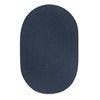 WearEver Navy Poly 4X6 Oval