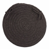 "Rhody Rug WearEver Black Poly 15"" Chair Pad"