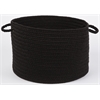 "WearEver Black Poly 18"" x 12"" Basket"