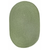 WearEver Olive Poly 7X9 Oval