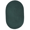 Rhody Rug WearEver Spruce Green Poly 4X6 Oval