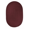 Rhody Rug WearEver Burgundy Poly 5X8 Oval