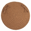 "Rhody Rug WearEver Lt. Brown Poly  15"" Chair Pad"